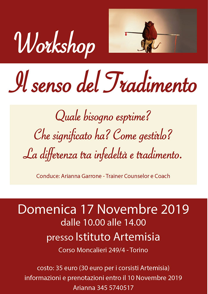 Il senso del tradimento - Workshop Arianna Garrone
